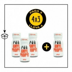 PACK 4 POPPERS PUR AMYL/PROPYL 13ML