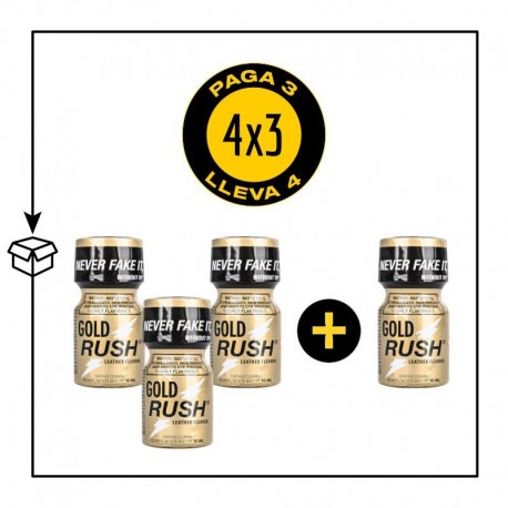 PACK 4 POPPERS GOLD RUSH 10ML