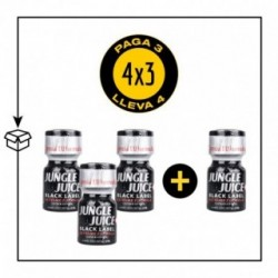 PACK 4 POPPERS JUNGLE JUICE BLACK LABEL 10ML