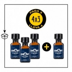 PACK 4 POPPERS GHOST ULTRA STRONG 24ML