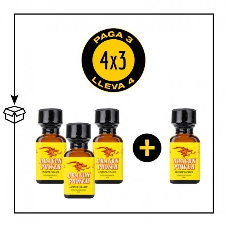 PACK 4 POPPERS DRAGON POWER 24ML