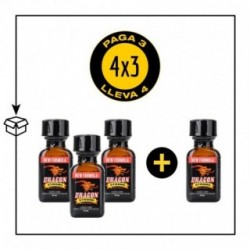PACK 4 POPPERS DRAGON STRONG 24ML