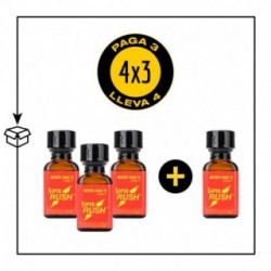 PACK 4 POPPERS SUPER RUSH 24ML