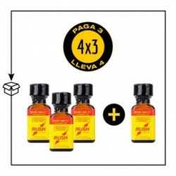 PACK 4 POPPERS RUSH AMARILLO PWD 24ML