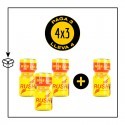 PACK 4 POPPERS RUSH AMARILLO 9ML PWD