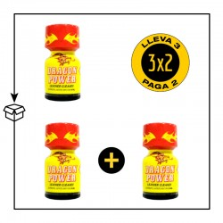 .PACK 3 POPPERS DRAGON POWER 9ML